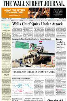 WSJ online coverage of breaking news and current headlines from the US and around the world. Top stories, photos, videos, detailed analysis and in-depth ...